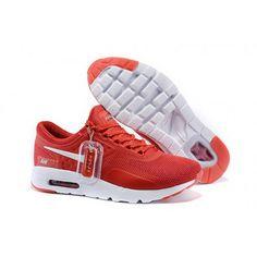 buy online 95c0e dd2d8 Mens Nike Air Max Zero Qs Shoes Red White Nike Air Max Femme, Nike Shoes