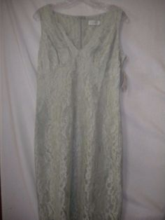 CDC Rampage Clothing Co. Size 8 Mint Lace Sleeveless Women Sheath Cocktail Dress #CdcClothing #Sheath #Cocktail