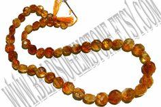 Citrine Faceted Coin Quality D / 36 cm /  21 to by beadsogemstone, $6.00