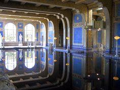 Roman Pool – 24k Gold Mosaic  – Casa Grande, Hearst Castle – San Simeon, California