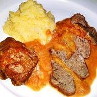 Fotografie receptu: Vepřová líčka na kořenové zelenině Korn, Tandoori Chicken, Mashed Potatoes, Meat, Ethnic Recipes, Whipped Potatoes, Smash Potatoes
