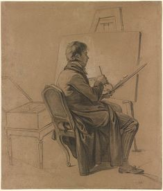 Louis-Léopold Boilly | Portrait of an Artist Seated at an Easel | Drawings Online | The Morgan Library & Museum