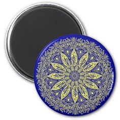 Green Floral design pattern - magnet