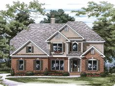 Eplans New American House Plan - Come Home to a Cottage - 3106 Square Feet and 5 Bedrooms(s) from Eplans - House Plan Code HWEPL09036