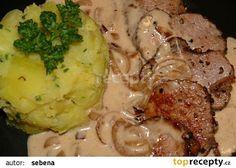 Vepřové medailonky s cibulovou omáčkou recept - TopRecepty.cz Pork Tenderloin Recipes, Pork Recipes, Cooking Recipes, Ground Meat, Food 52, Stew, Food And Drink, Chicken, Dinner