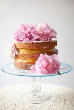 gâteau nu au citron et à la lavande / Lemon and Lavender Naked Cake