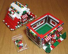 LEGO Custom Gingerbread House Christmas Train Holiday Train City Town Santa Elf
