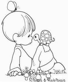 Precious Moments Christmas Coloring Pages | Precious Moments baby coloring page