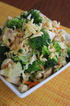 Broccoli Cabbage Asian Chicken Salad by Deals to Meals--healthy, light and full of awesome Asian flavor! Recipe on our blog.