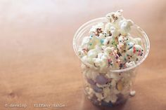 {Birthday cake popcorn} Wow, does that sound... crazy yummy.