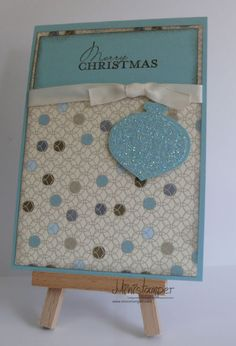 Christmas Card made with Stampin' Up! products by www.ministamper.com