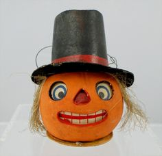 Halloween Candy Container Jack O Lantern, with top