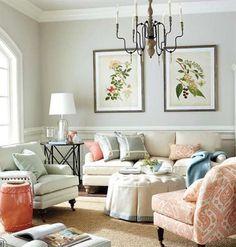 Arredare il soggiorno con i colori pastello - Salotto accogliente