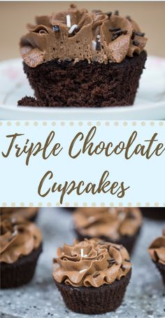 Triple Chocolate in one cupcake. Yes please!