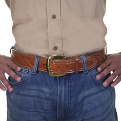 Other Hunting Holsters & Belts Humorous Galco Sb2-40 Mens Size 40 Lined Sport Steerhide Leather Belt
