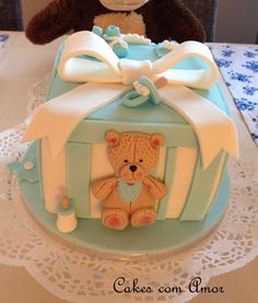 Danusa Rocha has made this cute Christening Cake using our Large Teddy Mould
