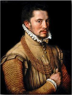 Anthonis Mor van Dashorst (and studio), Portrait of a Man, 1561
