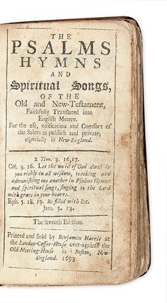 Full Details for Lot 84 Praying The Psalms, Salem Witch Trials, Early American, American History, Ties, This Book, Bible, Website, Tie Dye Outfits