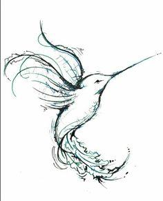 Humming bird drawing! Beautiful