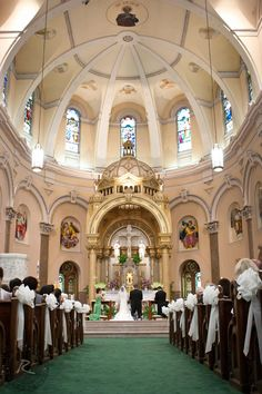 Beautiful church venue that doesn't need extra decorations