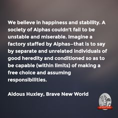 Brave new world quotes about sexuality and reproduction