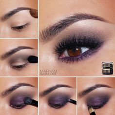 Brown Eyes Makeup 399061216977541291 - maquillage smoky eyes violet paillettes yeux marron Source by Purple Smokey Eye, Smoky Eyes, Smokey Eye Makeup, Skin Makeup, Pretty Makeup, Love Makeup, Stunning Makeup, Purple Makeup, Amazing Makeup