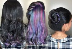 Mesmerising: Some chose for bright colors, others chose to dye portions of their hair subt. underlights hair Women show off their amazing secret rainbow hair colours Peekaboo Hair Colors, Red Peekaboo, Hidden Hair Color, Hidden Rainbow Hair, Underlights Hair, Corte Y Color, Dye My Hair, Hair Blog, Hair Color Balayage