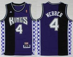 324abe1f19b Sacramento Kings  4 Chris Webber Hardwood Classic Purple Swingman Throwback  Jersey