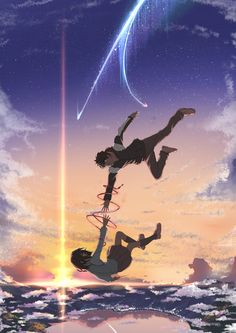 Your name wallpaper - Anime/Animation - Cosplay Anime, Anime Love, Anime Fan Art, Anime Art Fantasy, Kimi No Na Wa Wallpaper, Your Name Wallpaper, Music Wallpaper, Trendy Wallpaper, Love Wallpaper