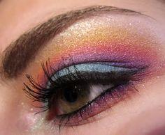 ♡ rainbow eye shadow ♡