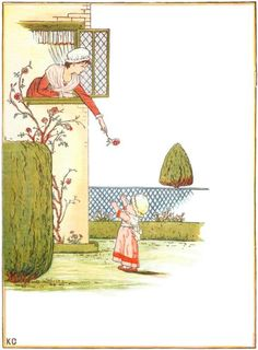 Little baby, if I threw This fair blossom down to you - Under the Window, 1878