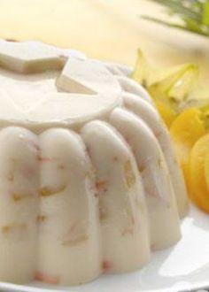 gelatina de zanahoria con duraznos