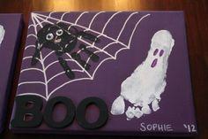 Main & Empreinte Toile Halloween