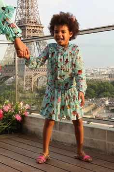 Blue Ivy Carter wearing Gucci Roses & Bees Dress