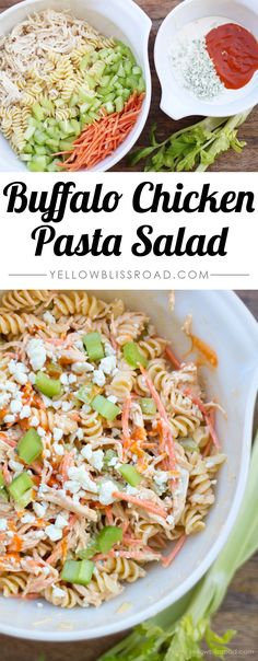 Spicy Buffalo Chicken Pasta Salad