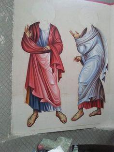 Byzantine Icons, Byzantine Art, Icon Clothing, Paint Icon, Bible Illustrations, Expressive Art, Religious Icons, Orthodox Icons, Sketch Design