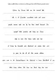 english worksheet sentence structure pathein pinterest sentence structure sentences