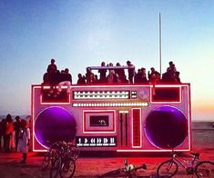 Burning Man is a festival that takes place at the end of every summer. Check out these amazing pictures from Burning Man. Cd Design, Stage Design, Burning Man 2014, Burning Man Art, Burning Man Night, Coachella Festival, Boombox, Burning Man Pictures, Poseidon