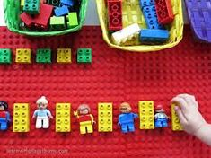 Learn with Play at home: Learning Patterns with Lego Preschool Activities At Home, Eyfs Activities, Preschool Math, Morning Activities, Children Activities, Color Activities, Therapy Activities, Maths Eyfs, Numeracy