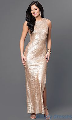 Shop Emerald Sundae long gold-sequin gowns at Simply Dresses. Floor-length designer prom dresses in gold and gold special-occasion dresses.