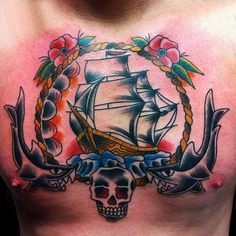 Chest tattoo designs are impressive for men and women. This is such as they present of his true body art pieces. Tattoo Designs And Meanings, Tattoo Designs Men, Full Tattoo, Old School Tattoo Designs, Chest Tattoo, Watercolor Tattoo, Body Art, Art Pieces, Tattoos