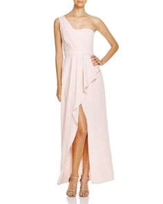 BCBGMAXAZRIA Kristine One-Shoulder Gown - Bloomingdale's Exclusive