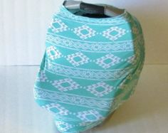 Stretchy Car Seat Cover / Car Seat Cover / Carseat Cover / Car Seat Canopy / Carseat Canopy / Nursing Cover / Stretchy Nursing Cover / Shopping Cart Cover / Multi-Use Cover / High Chair Cover / GingerSunshine on Etsy www.gingersunshine.etsy.com $21