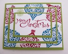 Stampin Up - Christmas Cards - Post By Demonstrator Brandy Cox