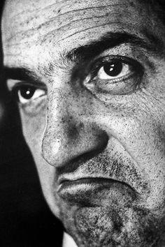 Federico Fellini, photographed by Cornel Lucas, 1958.