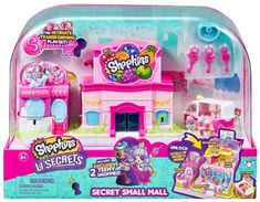 Shopkins Lil' Secrets Secret Small Mall Multi Level Playset with Grocery Store, Fashion Boutique & Ice Cream Truck - Toys Flirts Food Court, Shopkins Playsets, Shopkins Happy Places, Moose Toys, Toys R Us Canada, Gift Finder, Soft Dolls, Happy Kids, Doll Accessories