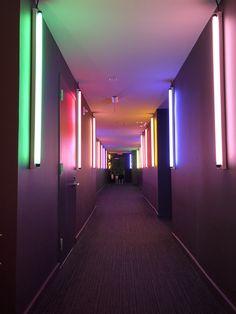 #hallway #light #tunnel  #colors #installation #penthouse