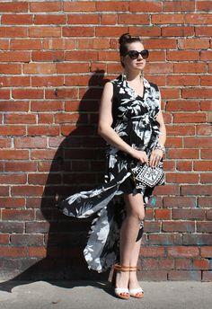 Monotone St Frock Floral Shirt Dress