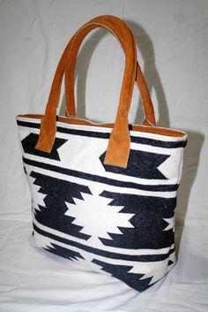 VINTAGE Kilim Crossbody Leather Purse Southwest Navajo Carpet Bag tote for girls #Unbranded #NewKilimRug