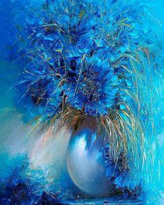 39 Ideas Flowers Blue Flowers - paint and art Art Floral, Images D'art, Acrylic Art, Beautiful Paintings, Painting Inspiration, Blue Flowers, Art Pictures, Flower Art, Watercolor Paintings
